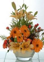 Kırklareli çiçek siparişi sitesi  cam yada mika vazo içinde karisik mevsim çiçekleri