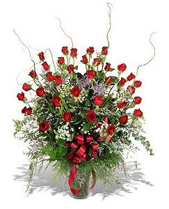 Kırklareli yurtiçi ve yurtdışı çiçek siparişi  33 adet kirmizi gül vazo içerisinde