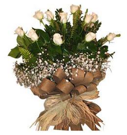 Kırklareli hediye sevgilime hediye çiçek  9 adet beyaz gül buketi