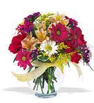 Kırklareli çiçek servisi , çiçekçi adresleri  cam yada mika vazo içerisinde karisik kir çiçekleri