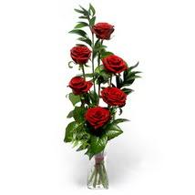 Kırklareli yurtiçi ve yurtdışı çiçek siparişi  cam yada mika vazo içerisinde 6 adet kirmizi gül