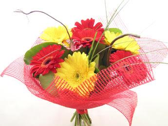 9 adet gerbera çiçeklerinden buket  Kırklareli çiçek online çiçek siparişi