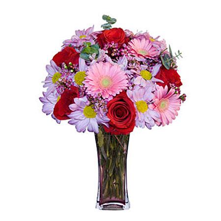 Görsel hediye karisik cam mevsim demeti  Kırklareli güvenli kaliteli hızlı çiçek