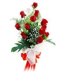 11 adet kirmizi güllerden görsel sölen buket  Kırklareli çiçek gönderme sitemiz güvenlidir