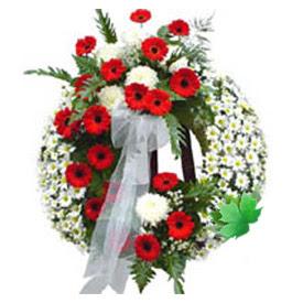 Cenaze çelengi cenaze çiçek modeli  Kırklareli çiçek satışı