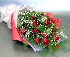 10 adet kirmizi gül çiçegi gönder  Kırklareli ucuz çiçek gönder