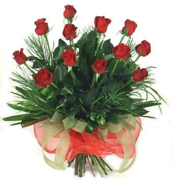 Çiçek yolla 12 adet kirmizi gül buketi  Kırklareli internetten çiçek siparişi