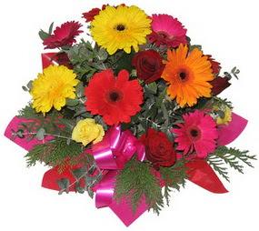 Karisik mevsim çiçeklerinden buket  Kırklareli hediye çiçek yolla