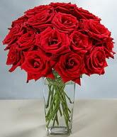 Kırklareli güvenli kaliteli hızlı çiçek  cam vazoda 11 kirmizi gül  Kırklareli hediye çiçek yolla