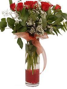 Kırklareli çiçek satışı  11 adet kirmizi gül vazo çiçegi