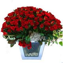Kırklareli çiçek yolla , çiçek gönder , çiçekçi    101 adet kirmizi gül aranjmani
