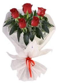 5 adet kirmizi gül buketi  Kırklareli çiçek yolla , çiçek gönder , çiçekçi