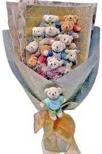 12 adet ayiciktan buket tanzimi  Kırklareli çiçek gönderme