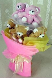 8 adet ayiciktan buket  Kırklareli çiçek gönderme