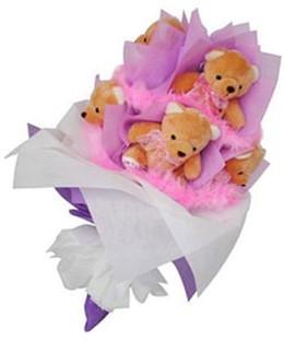9 adet ayiciktan buket  Kırklareli hediye çiçek yolla