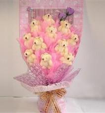11 adet pelus ayicik buketi  Kırklareli 14 şubat sevgililer günü çiçek