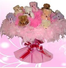 11 adet pelus ayicik buketi  Kırklareli çiçek online çiçek siparişi