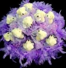 11 adet pelus ayicik buketi  Kırklareli çiçek servisi , çiçekçi adresleri