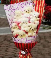 11 adet pelus ayicik buketi  Kırklareli çiçek mağazası , çiçekçi adresleri