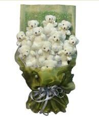 11 adet pelus ayicik buketi  Kırklareli çiçek yolla