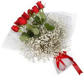 7 adet essiz kalitede kirmizi gül buketi  Kırklareli hediye çiçek yolla