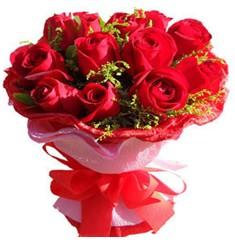 9 adet kirmizi güllerden kipkirmizi buket  Kırklareli çiçek yolla , çiçek gönder , çiçekçi