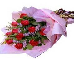 11 adet kirmizi güllerden görsel buket  Kırklareli uluslararası çiçek gönderme