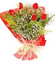 Kırklareli ucuz çiçek gönder  5 adet kirmizi gül buketi demeti