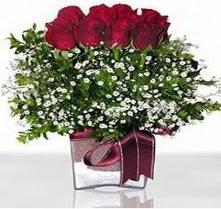 Kırklareli online çiçekçi , çiçek siparişi  mika yada cam vazo içerisinde 7 adet gül