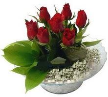 Kırklareli online çiçekçi , çiçek siparişi  cam yada mika içerisinde 5 adet kirmizi gül