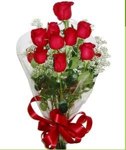 Kırklareli çiçek satışı  10 adet kırmızı gülden görsel buket