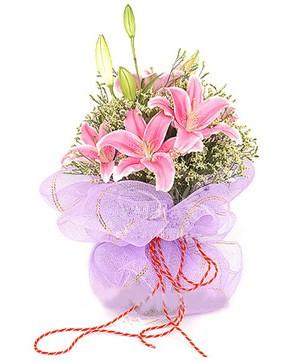 3 dal kazablanka görsel buketi  Kırklareli online çiçekçi , çiçek siparişi