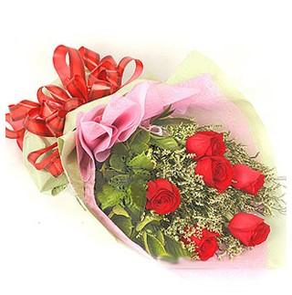 Kırklareli çiçek servisi , çiçekçi adresleri  6 adet kırmızı gülden buket