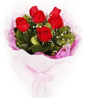 Kırklareli hediye çiçek yolla  kırmızı 6 adet gülden buket