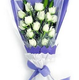 Kırklareli güvenli kaliteli hızlı çiçek  11 adet beyaz gül buket modeli