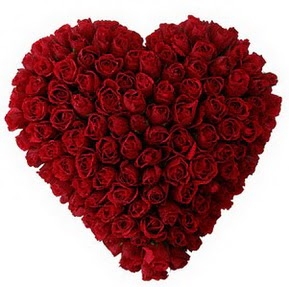 Kırklareli güvenli kaliteli hızlı çiçek  muhteşem kırmızı güllerden kalp çiçeği