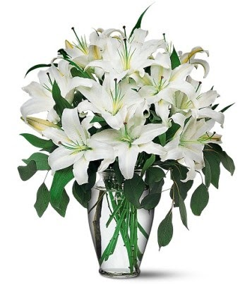 Kırklareli online çiçekçi , çiçek siparişi  4 dal kazablanka ile görsel vazo tanzimi