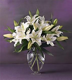 Kırklareli cicekciler , cicek siparisi  4 dal cazablanca vazo çiçeği