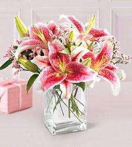 2 dal kazablanka görsel vazosu  Kırklareli yurtiçi ve yurtdışı çiçek siparişi