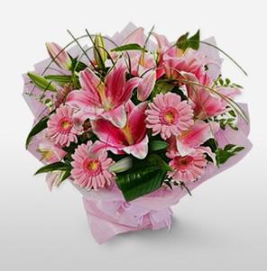 1 dal kazablanka ve kır çiçek görsel buketi  Kırklareli online çiçekçi , çiçek siparişi