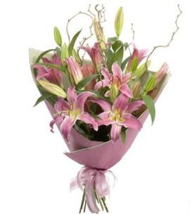 Kırklareli cicekciler , cicek siparisi  3 dal cazablanca buket çiçeği