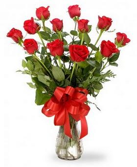 Kırklareli çiçek servisi , çiçekçi adresleri  12 adet kırmızı güllerden vazo tanzimi