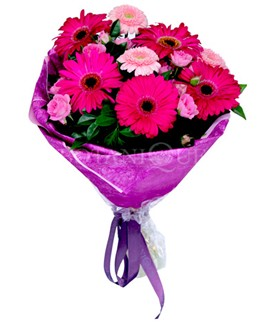 Kırklareli yurtiçi ve yurtdışı çiçek siparişi  karışık gerbera çiçeği buketi