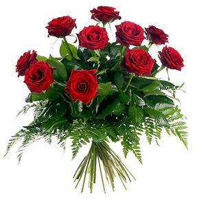 Kırklareli anneler günü çiçek yolla  10 adet kırmızı gülden buket