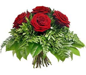 Kırklareli internetten çiçek satışı  5 adet kırmızı gülden buket