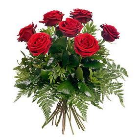 Kırklareli çiçek yolla  7 adet kırmızı gülden buket