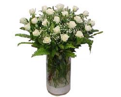 Kırklareli çiçek siparişi vermek  cam yada mika Vazoda 12 adet beyaz gül - sevenler için ideal seçim