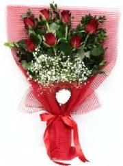7 adet kırmızı gülden buket tanzimi  Kırklareli çiçek gönderme