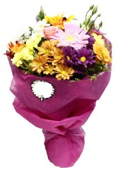 1 demet karışık görsel buket  Kırklareli ucuz çiçek gönder