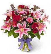 Vazo içerisinde karışık mevsim çiçeği  Kırklareli yurtiçi ve yurtdışı çiçek siparişi